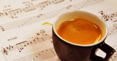 コーヒーと楽譜