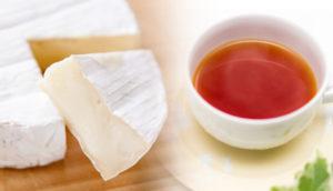 チーズと紅茶